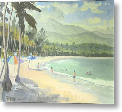 Luquillo Beach Metal Print by Marcus Thorne