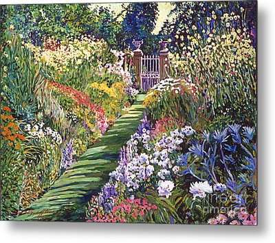 Lush Floral Pathway Metal Print by David Lloyd Glover