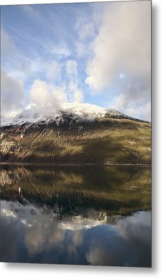 Lutak Inlet Reflections Metal Print by Michele Cornelius