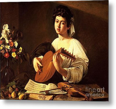 Lute Player Metal Print by Celestial Images