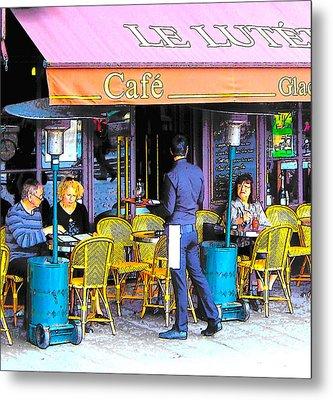 Cafe Lutetia Ile Saint Louis Paris Metal Print by Jan Matson