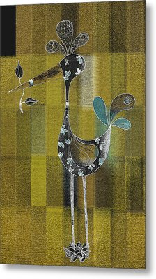 Lutgarde's Bird - 061109106gb Metal Print by Variance Collections