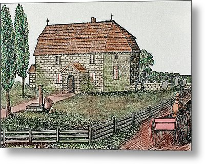 Lutheran Church Built In 1743 Trappe Metal Print