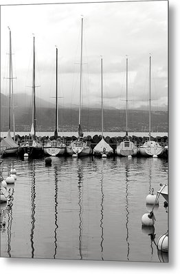 Lutry Port Metal Print by Colleen Williams