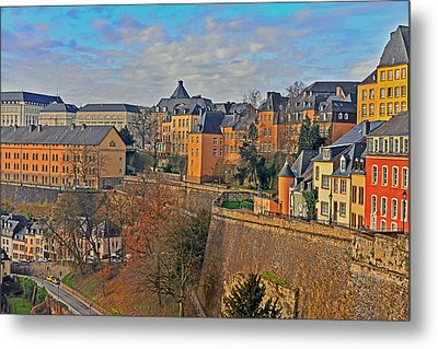 Luxembourg Fortification Metal Print