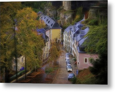 Metal Print featuring the photograph Luxembourg - Grund by Maciej Markiewicz