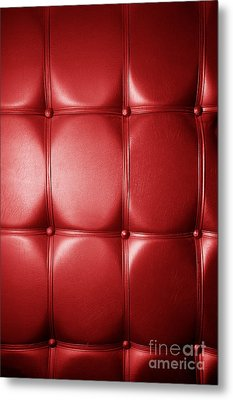 Luxury Genuine Leather. Red Color Metal Print by Michal Bednarek