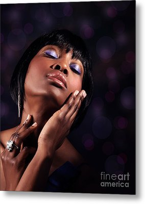 Luxury Woman's Portrait Metal Print