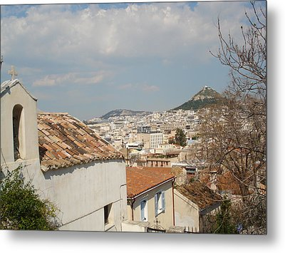 Lykabytos View Metal Print by Greek View