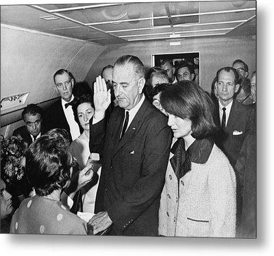 Lyndon Johnson Sworn In Metal Print