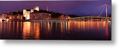 Lyon At Dusk Metal Print by Phyllis Peterson