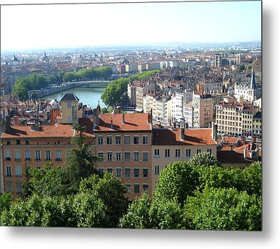 Metal Print featuring the photograph Lyon From Above by Dany Lison