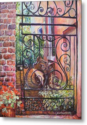 Lyrical Gate Metal Print by Alice Grimsley