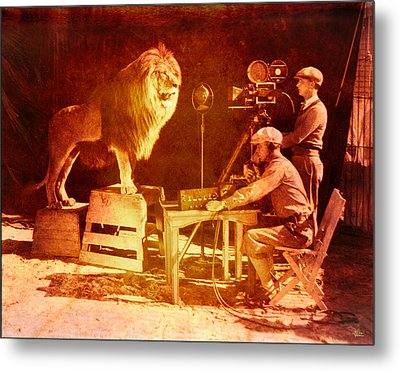 M G M Filming Of Leo The Lion Production Logo 1917 To 1928 Metal Print