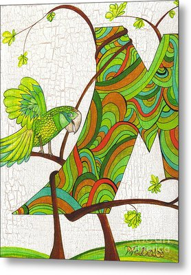 M Is For Macaw  Metal Print