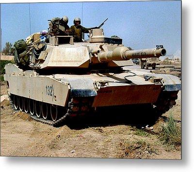 M1 Abrams Tank Desert Camouflage  Metal Print