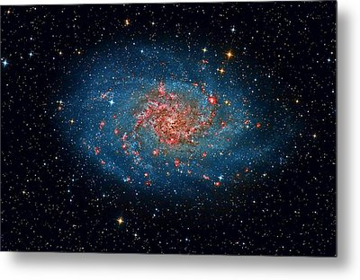 M33 Spiral Galaxy Metal Print by Celestial Images
