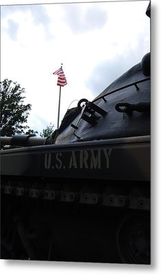 Metal Print featuring the photograph M60a3 Us Tank 05 by Ramona Whiteaker