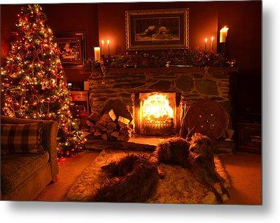 Ma Wee Room At Christmas Metal Print by Joak Kerr