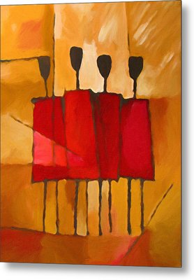 Maasai Group Metal Print by Lutz Baar