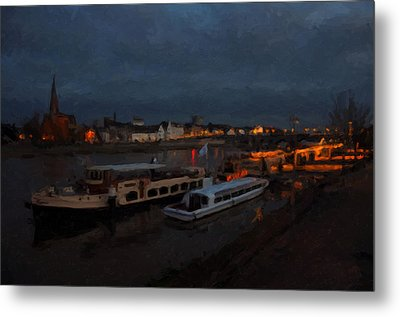 Maastricht Nine Days Before Christmas Metal Print by Nop Briex