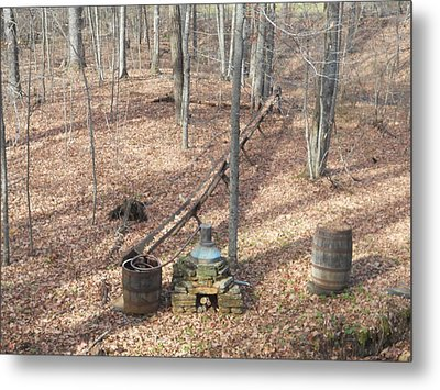 Mabry Mill Moonshine Still Replica Metal Print