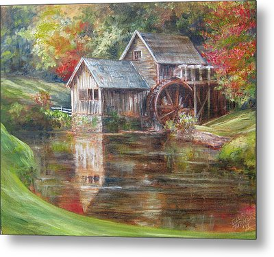 Mabry Mill Sold  Metal Print by Gloria Turner