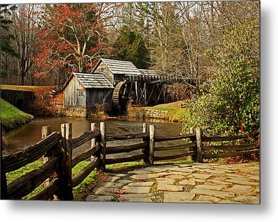 Mabry Mill Metal Print by Suzanne Stout