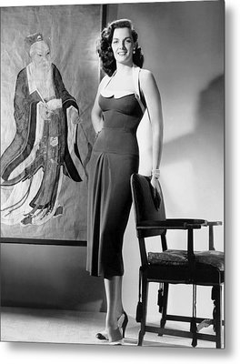 Macao, Jane Russell, In A Dress Metal Print