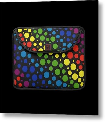#macbook #cover #rainbow #awesome Metal Print by Mandy Shupp