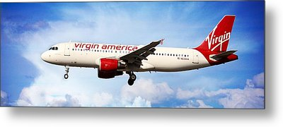 Airplane Metal Print featuring the photograph Virgin America Mach Daddy - Rare by Aaron Berg