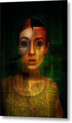 Machine Metal Print by Kim Gauge
