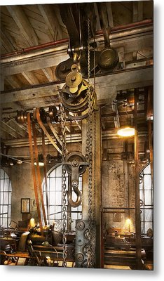 Machinist - In The Age Of Industry Metal Print by Mike Savad