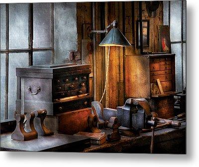 Machinist - My Workstation Metal Print by Mike Savad