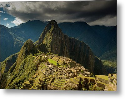 Machu Picchu, Ancient Ruins, Unesco Metal Print by Howie Garber