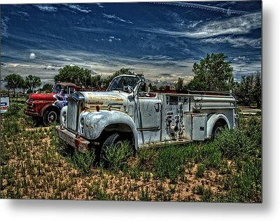 Metal Print featuring the photograph Mack Fire Truck by Ken Smith