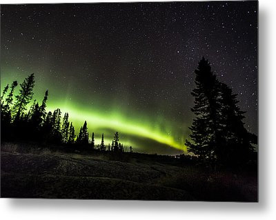 Mackenzie Point Aurora 3 Metal Print