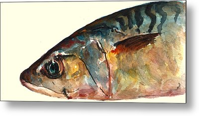 Mackerel Fish Metal Print by Juan  Bosco