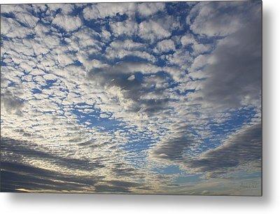Mackerel Sky Natural Metal Print by Amanda Holmes Tzafrir
