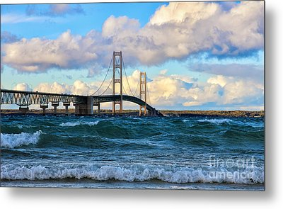 Mackinac Among The Waves Metal Print
