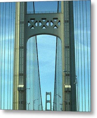 Mackinac Bridge Detail 2 Metal Print