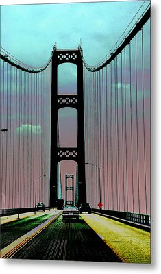 Mackinac Bridge Fantasy Metal Print