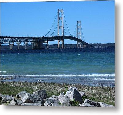 Metal Print featuring the photograph Mackinaw Bridge by Bill Woodstock