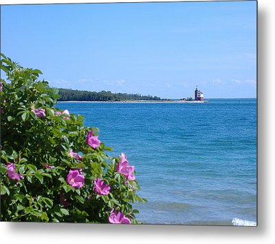 Mackinaw Island Lighthouse Metal Print by Bill Woodstock