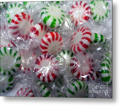 Macro Mints Metal Print by Joseph Baril