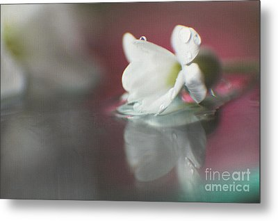 Metal Print featuring the photograph Macro Wild Floral Textured by Eden Baed