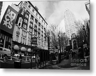 Macys At Broadway And 34th Street Herald Square New York City Metal Print by Joe Fox