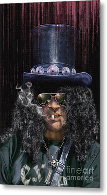 Mad As A Hatter - Slash Metal Print