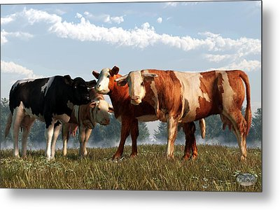 Mad Cows Metal Print by Daniel Eskridge