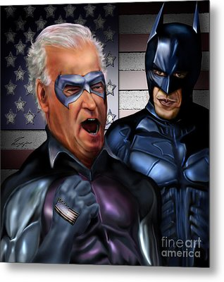 Mad Men Series 3 Of 6 - Obama And Biden Metal Print by Reggie Duffie